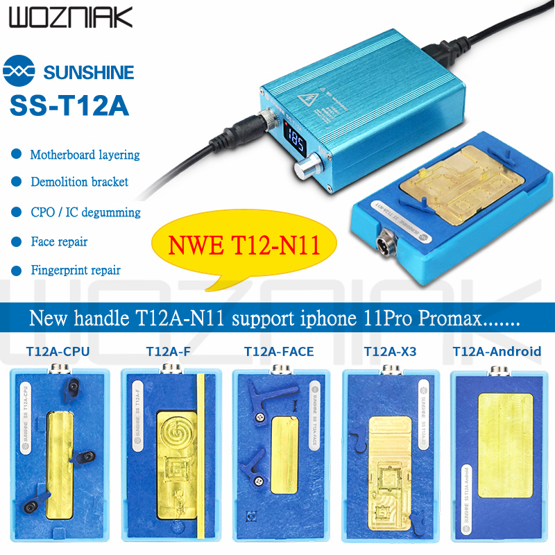 SS-T12A Motherboard Separator Heating Station For iPhone X/XS/XS MAX CPU IC Chips Disassembly Glue Remover Soldering Repair Tool