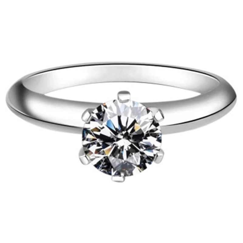 CC Ringe Für Frauen Klassische Schmuck 6 Claws Zirkonia Braut Hochzeit Engagement Zubehör Bijoux Drop Verschiffen CC1611