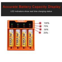 Cargador de batería PKCELL para 1,2 V, 3,7 V, 3,2 V, 26650 V, AA, AAA, 18650, 18350, 14500, 10440, CR123A, 5V, 2A, con pantalla LED, línea USB, 1 Uds.