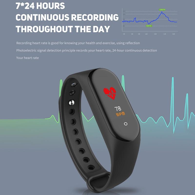 Men Women Smart Bracelet Blood Pressure Heart Rate Sports Sleep Monitoring Watch AS99 in Smart Wristbands from Consumer Electronics