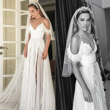 Eightree Vestido de noiva Chiffon wedding Dress Spaghetti Straps Wedding Dresses 2019 Bridal Gown Floor Length robe de soiree