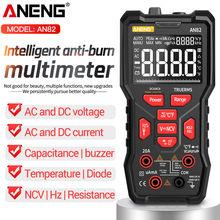 ANENG AN82 Multimetro digitale professionale 9999 Tester condensatore a Transistor fai-da-te Tester NCV Multimetro analogico True RMS
