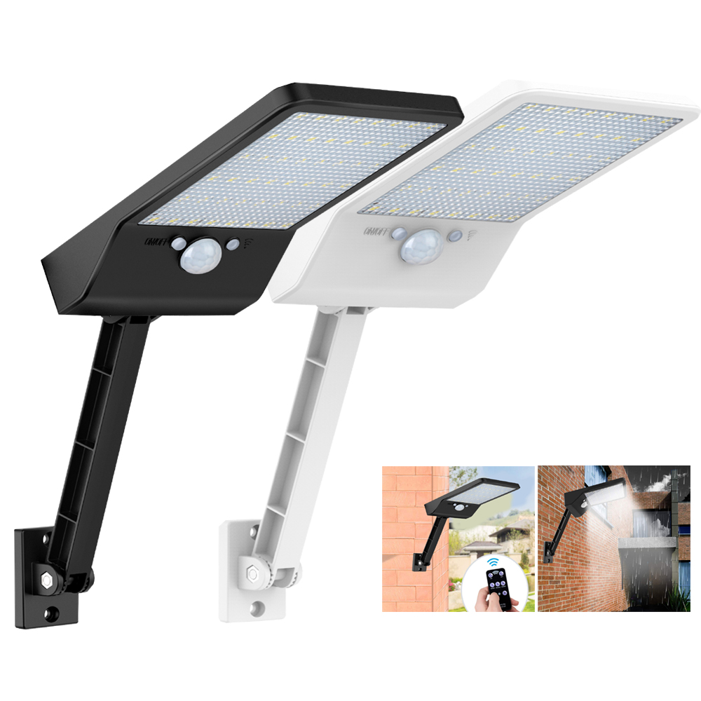 48LED Solar Light PIR Body Sensor Waterproof Security Garden Outdoor Lamps White