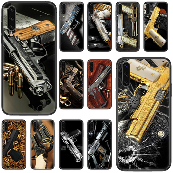 Pistol rifle sniper gun Phone case For Samsung Galaxy A 5 10 20 3 30 40 50 51 7 70 71 E S 4G 16 17 18 black hoesjes luxury prime image