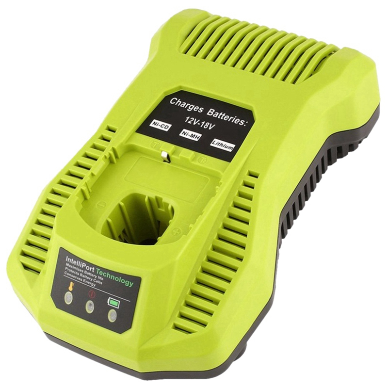12V 18V Charger Replacement For Ryobi P117 Rechargeable Battery Pack Power Tool Battery Intelliport Technology(Eu Plug) Chargers     - title=