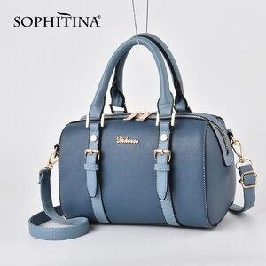 SOPHITINA, модные женские сумки с мягкой ручкой, регулируемый плечевой ремень, универсальный с молнией, новые сумки, вместительные сумки на ремн...