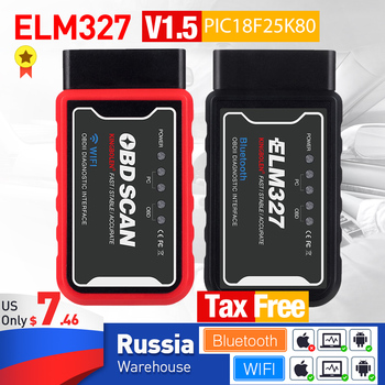 ELM327 V1.5 OBD2 Scanner WiFi BT PIC18F25K80 Chip OBDII Diagnostic Tools for IPhone Android PC ELM 327 Auto Code Reader 1