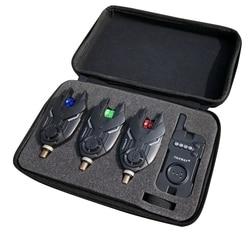 Fishing bezprzewodowy sygnalizator brań Combo połowów zestaw alarmowy sygnalizator brań s odbiornik wędkarstwo Tackle z odbiornik w Wykrywacze ryb od Sport i rozrywka na