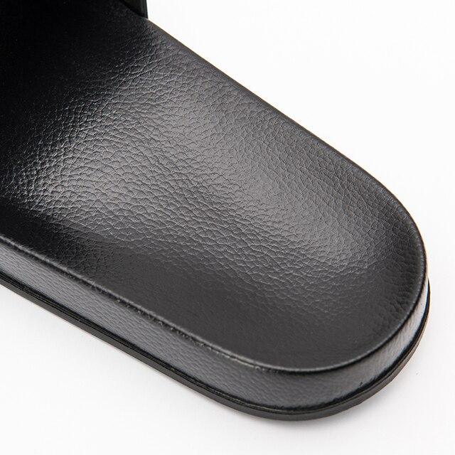 الصيف شبشب رجالي حذاء أبيض وأسود عادي عدم الانزلاق الشرائح الصنادل الحمام لينة وحيد الوجه يتخبط حجم كبير 47 رجل هدية 4