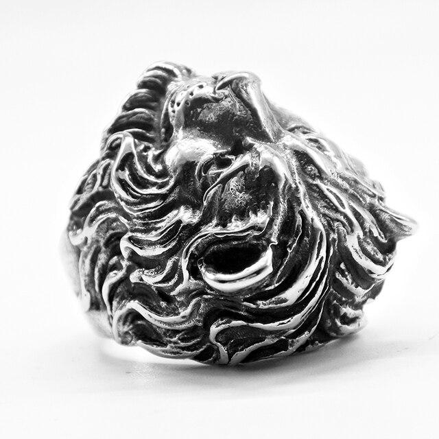 Bague lion argent