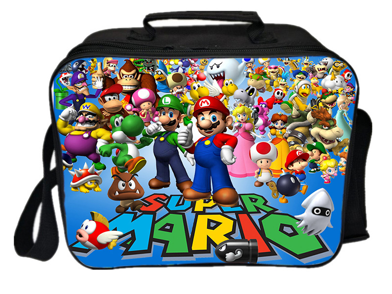Super Mario Lunch Bag Worker Tote Cooler Bag Men Women Teens Thermal Nsulation Bag Students New Beautiful Portable Lunch Box