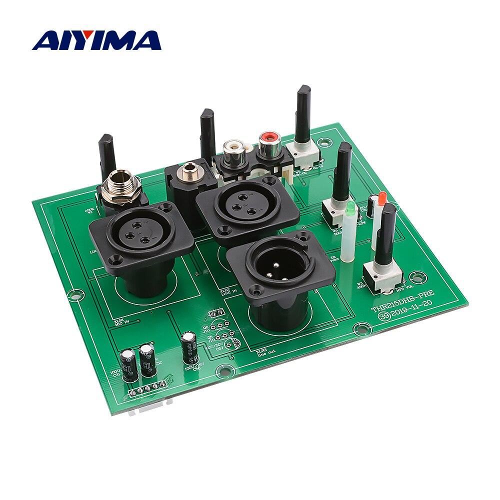 AIYIMA двухсторонний предусилитель, усилитель, встроенный вход XLR 6,35 мм с высокочастотным басом, регулировка эквалайзера, предусилитель сжати...