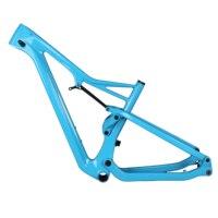 Mountain bike 29er eixo através do quadro 142*12mm espaçamento da roda traseira carbono mtb bicicleta quadro fm036|Quadro da bicicleta| |  -