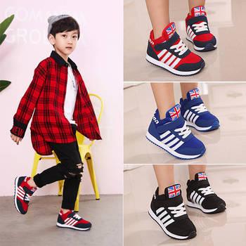 2019 חדש אופנה חורף ילדים לנשימה רך סניקרס בנות נוחות נעליים יומיומיות בני להתחמם ריצה ספורט נעלי טניס