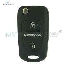 Remtekey Flip remote key TOY48 blade 434Mhz with 46Chip for Hyundai Verna 3 button flip remote key with 46chip 3 button toy48 434mhz for kia folding car key remtekey