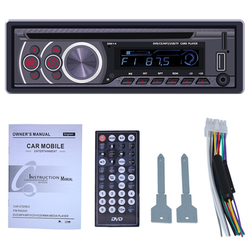 Car Stereo CD Player - Single Din Bluetooth Audio and Hands Free Calling MP3 Player CD/DVD/VCD USB Port AUX Input AM/FM Radio Re