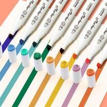 Marqueurs à l'alcool 12 couleurs, stylo à double tête, série Sweet vitalité, à base de Manga, pour colorier, fournitures d'art pour artiste