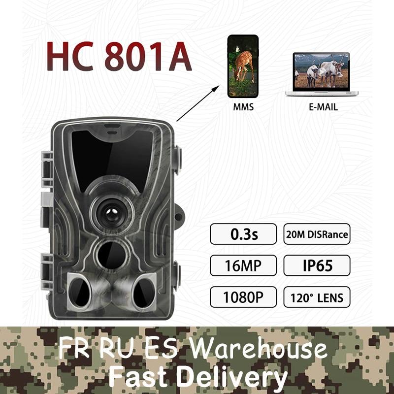Suntekcam HC-801A 2019 Newest Hunting Camera 16MP 32GB Trail Camera IP65 Photo Traps 0.3s Trigger Time 850nm Wild Camera Trap