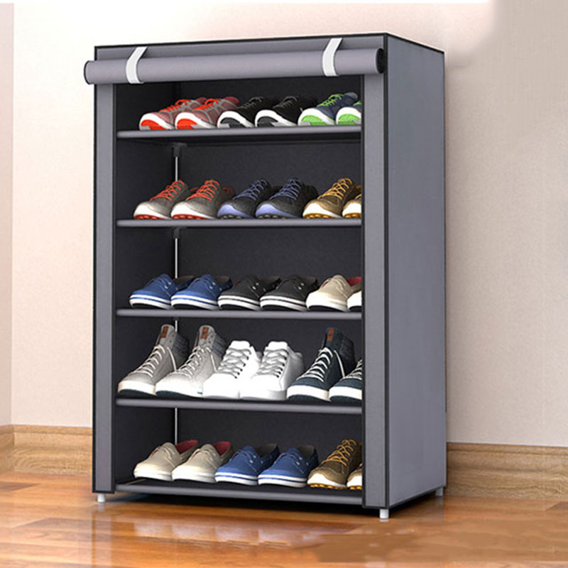 Simple Home Folding Dust-proof Shoe Rack DIY Assembly Cloth Shoes Cabinet Multi-layer Shoe Organizer Storage Rack
