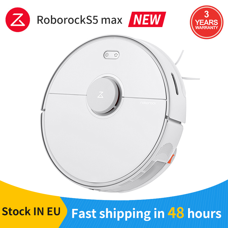 Plaza New XIAOMI Roborock S5 MAX Robot Vacuum Cleaner Globe Version For Home Update S50/S55 Smart Planned Washing Mopping 20Kpa|Vacuum Cleaners|   - AliExpress