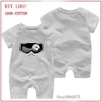 Latest popularity Summer New Style Short Sleeved Cotton Newborn Body Suit MTB Ride Mask new born baby boy clothes 3 to 6 months image