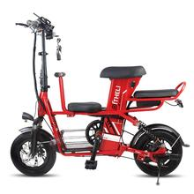 Bike Scooters Electric-Bicycle 2-Wheels 48V with Adult/child Seat 400W Travel