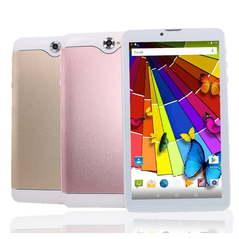 S7 3G Phone Call Tablet PC 7inch  MTK8321 Quad Core Dual Sim Card Android 6.0 Wifi  1GB+16GB 1024*600 Pxs IPS Sreen GPS