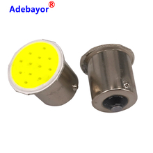 100x P21W 1156 BA15S P21W LED clignotant ampoule COB 12 puces voiture intérieur lumière Parking remorque arrière clignotant lumières 12v