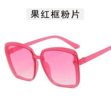 2020 Kim Kardashian Sunglasses Lady Flat Top Eyewear Femme W