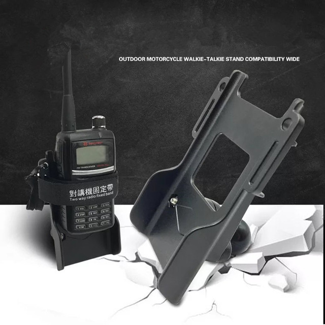Radio Houder Met Riem Clip Met Diamant Plaat Compatibel Met 1 Inch Rubberen Bal Voor Auto Motorfiets Interphone