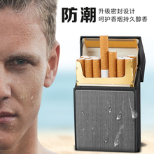 FOCUS Cigarette Case Box Lighter with Flameless Removable Electronic Windproof Torch 20pcs Holder
