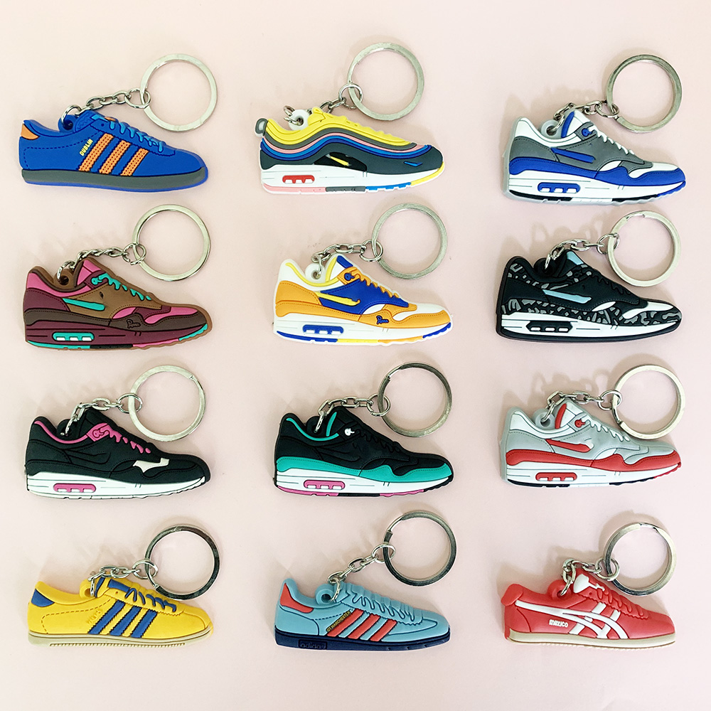 Keychain Mini Jordan Shoe Max 1 Key Chain Woman Men Kids Gift Key Ring Basketball Sneaker Porte Clef