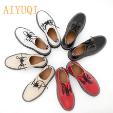 AIYUQI Women Shoes 2020 New Spring British Style Student Martin shoes Large Size 41 42 43 Genuine Leather Ladies Oxford