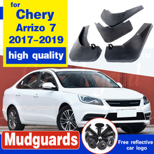 Free shipping splasher Mudguard Mud Flaps Splash Guards Fit For Chery Arrizo 7 2017-2019 4pcs 1set 2018 free shipping car splasher mudguard mud flaps splash guards covers fit for bmw x4 1set 4pcs