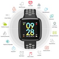 Heart Rate Smart Band IP67 Waterproof Blood Pressure Oxygen Monitor Fitness Bracelet Double Color Strap Smartwatch Wristband