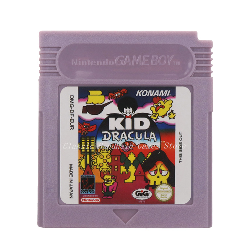 For Nintendo GBC Video Game Cartridge Console Card KID Dracula English Language Version