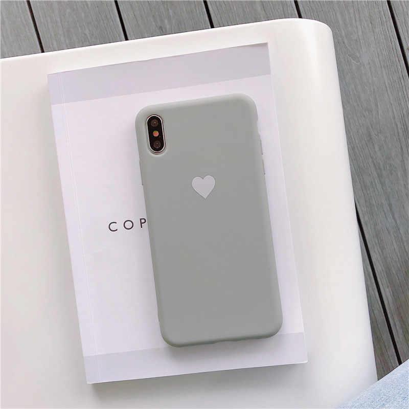Di Colore della caramella Del Cuore di Amore Per Il Caso di Huawei P30 Lite P30 P20 Pro Nova 3i Honor 10 Lite Molle Del Silicone Carino copertura del telefono di Protezione