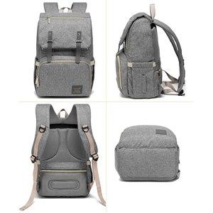Image 5 - Diaper Bag Backpack for Mom 2020 USB Maternity Baby Care Nappy Nursing Bags Fashion Travel Diaper Backpack for Stroller Kit