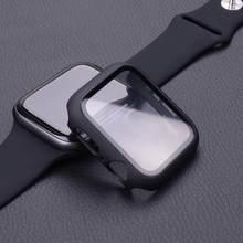 Чехол + закаленное стекло для Apple Watch 44 мм 40 мм серия 5 4 3 2 1 Защитная крышка для экрана бампер чехол для iwatch 5 4 3 2 1 42 мм 38 мм
