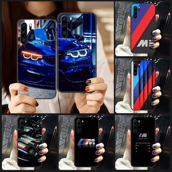 Germany M BMW Sports Car Phone Case Cover Hull For Huawei P8 P9 P10 P20 P30 P40 Lite Pro Plus smart Z 2019 black waterproof image