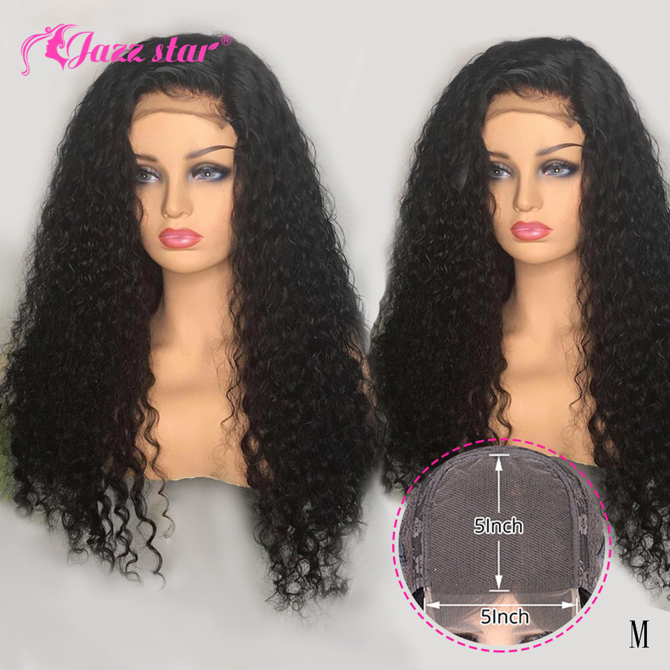 Kinky Curly Human Hair Wig 5x5 Lace Closure Wig Pre Plucked with Baby Hair Brazilian Lace Wigs For Woman Non-Ramy Jazz Star Hair