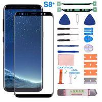 Tela De Vidro frontal Com Kit De Reparação De Substituição Para Samsung Galaxy S8/S8Plus/S9/S9Plus/S10/s10Plus