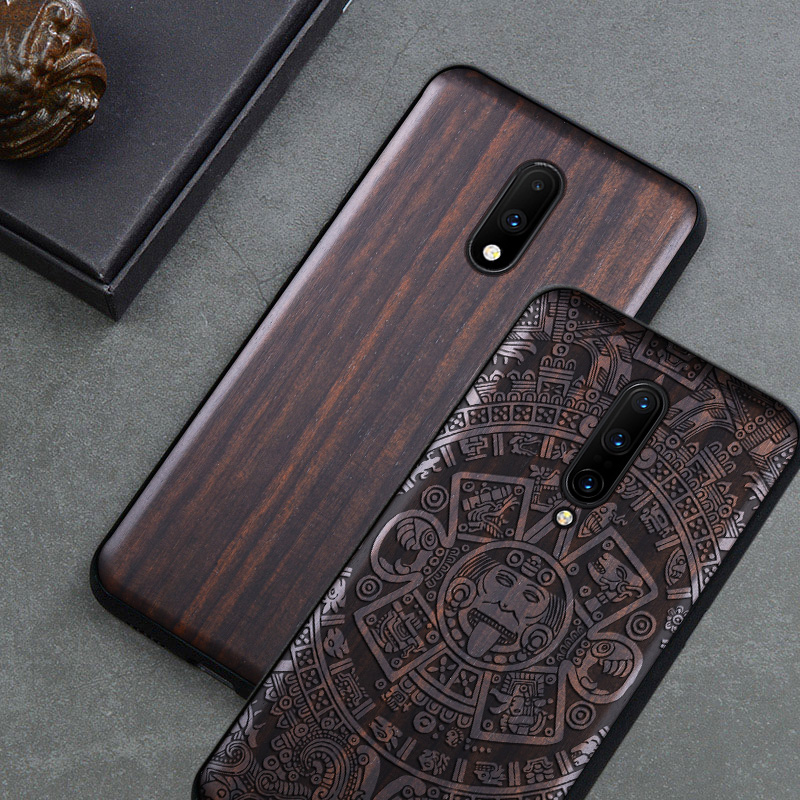 Boogic Original For Oneplus 7t Case Oneplus 7t Pro Black Ebony Wood Cover For Oneplus 7 Oneplus 7 pro Protective Case