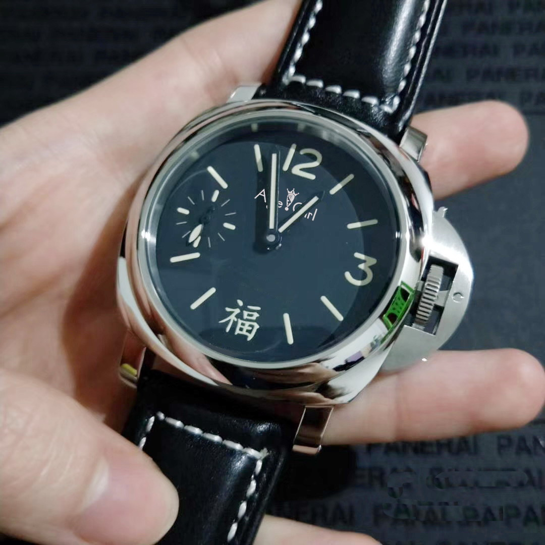 Luxury Brand New Men Automatic Mechanical Hand Wind Sapphire Black Leather Stainless Steel 1950 3 Days Watch Luminous AAA+