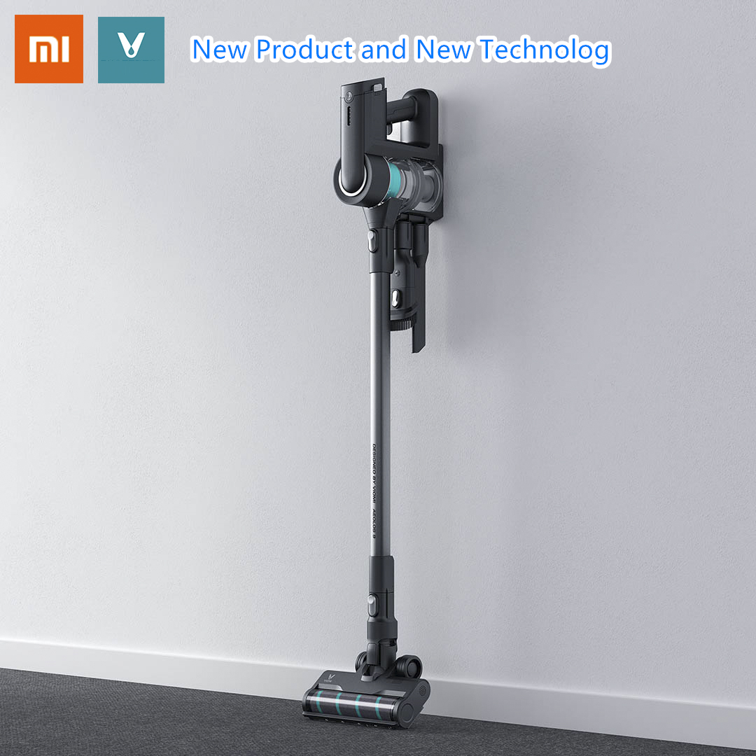 2020 Latest Xiaomi VIOMI Handheld Cordless Vacuum Cleaner One Button On/off Replaceable Battery Design 23000pa Suction