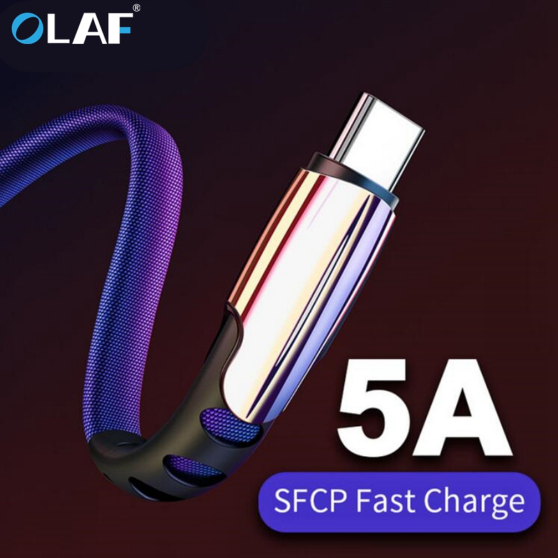5A USB Type C Cable Fast Charging USB C Data Cord Phone Charger For Samsung S9 S8 Note 9 8 Huawei P20 Pocophone F1 Type-C Cable
