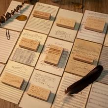 Decoration Stamp Wooden Scrapbooking Craft Vintage Concert for DIY Hall-Music-Score