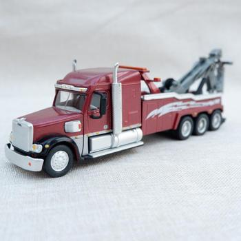 1:55 Scale Alloy Toy Truck Freightline Heavy Trailer Crane Model 23cm Vintage Static Model Matel For Collection Child Gift