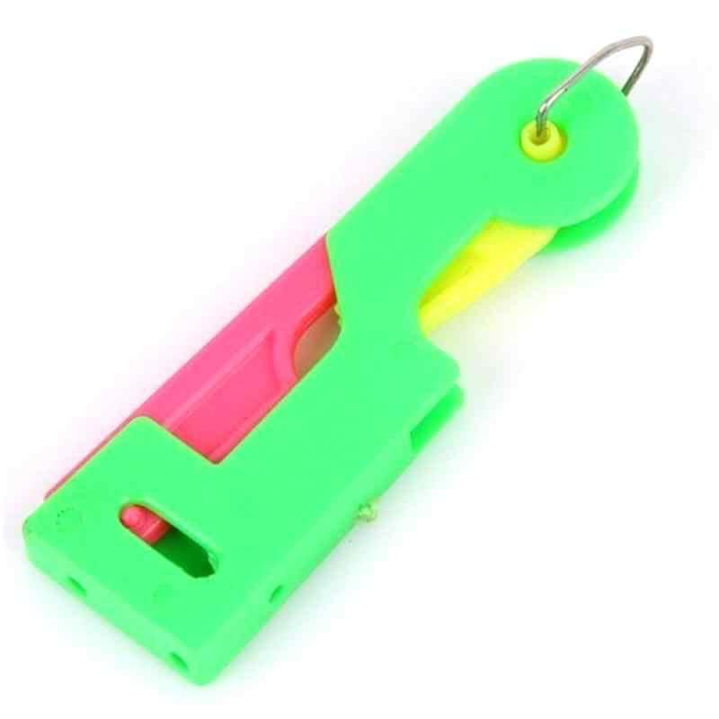 1 sztuk automatyczny nawlekacz igły trwała plastikowa rączka Craft obcinarki do nitek pomocne osoby w podeszłym wieku przewodnik łatwy w użyciu narzędzie do szycia