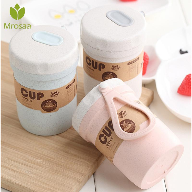 Portable Wheat Straw Lunch Breakfast Drink Porridge Cup Breathable Sealed Soup Cup For kids Office Soup Cans Creative Lunch Box image